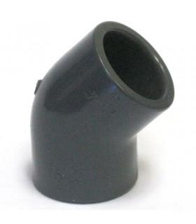 Угольник 45 градусов ПВХ, 40 мм