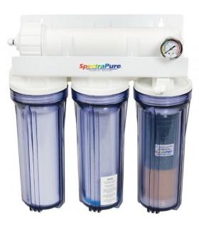 Четырехступенчатая обратноосмотическая система очистки воды  CSPDI Automatic Flush 90-GPD RO/DI System